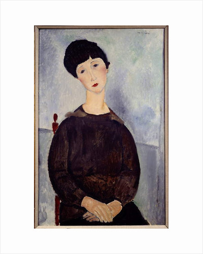 Portrait of a Sitting Brown Girl by Amedeo Modigliani