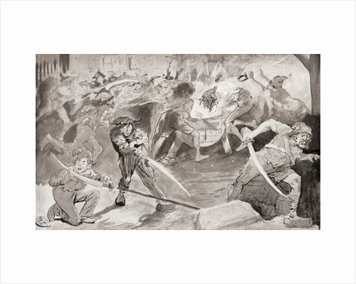 Grindstone By Illustration Harry Furniss For The Charles Dickens Novel A Tale Of Two Cities
