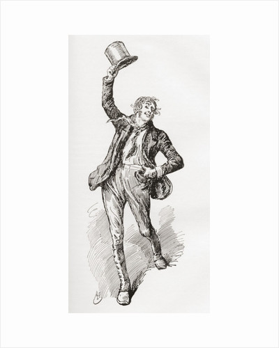 Mark Tapley. Illustration by Harry Furniss for the Charles Dickens novel Martin Chuzzlewit by Anonymous