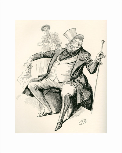 Joey B. Illustration by Harry Furniss for the Charles Dickens novel Dombey and Son by Anonymous