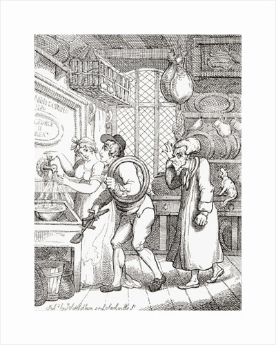 A New Cock Wanted, or Work for the Plumber, after Thomas Rowlandson, 1810 by Anonymous