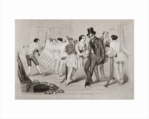 A 19th century ballet class by Anonymous