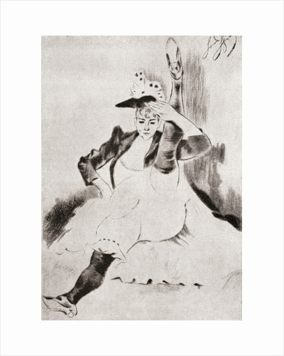 After a work by Louis Legrand entitled, The Greeting. Modern Cancan pose by Anonymous