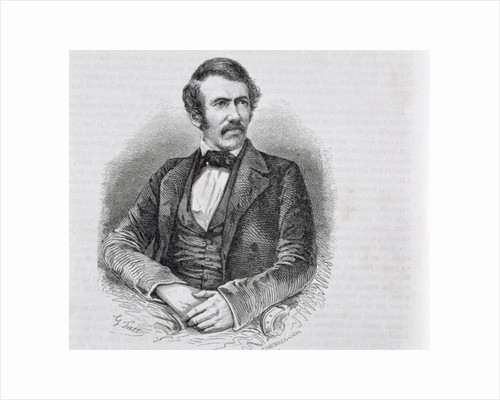 David Livingstone engraved by S. Pannemaker by Scottish School