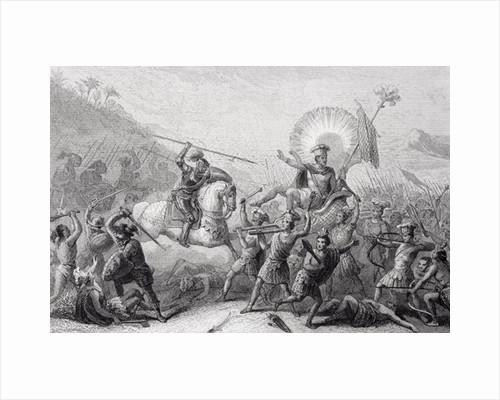 Battle of Otumba, Mexico by Spanish School