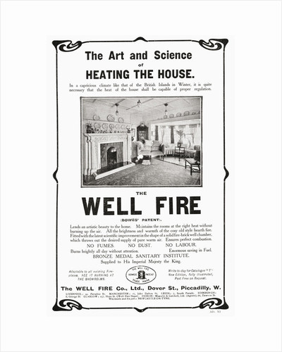 Early 20th century advertisement for The Well Fire by Anonymous