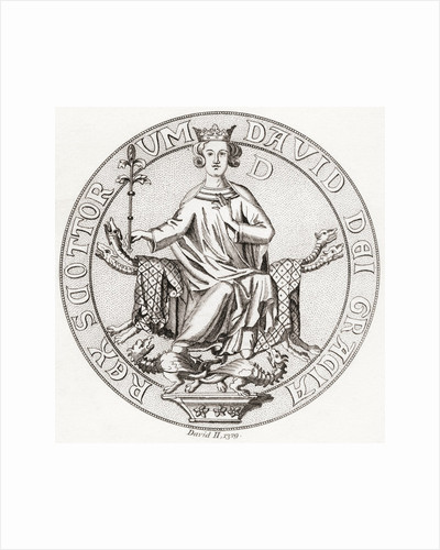 Seal of David II. King of Scots by Anonymous