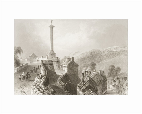 Walls and Walker's Pillar, Londonderry by William Henry Bartlett