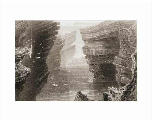 Cove in Mal Bay, County Clare, Ireland by William Henry Bartlett