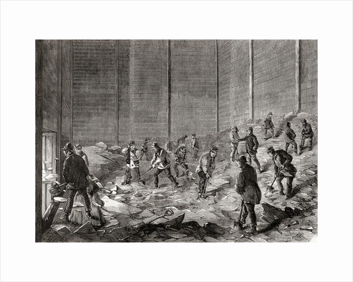 Storing the ice at Mr Charles' ice stores, Lindsey House, London by French School