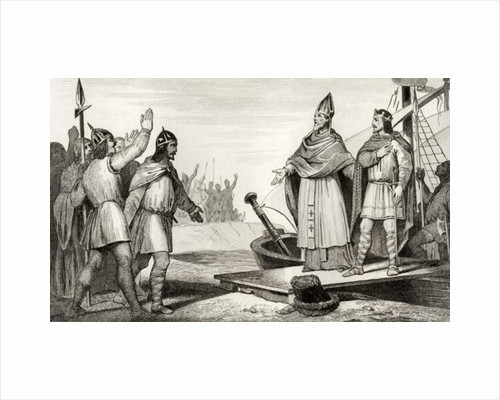 Louis IV (921-54) d'Outremer lands in France after the death of Raoul in 936 by French School