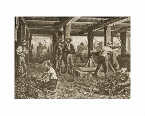 Silver Mining in Nevada by English School
