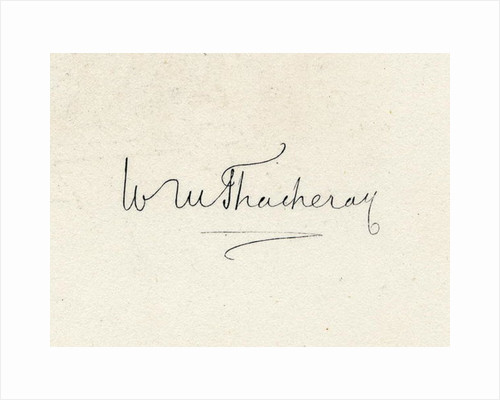 Signature of William Makepeace Thackeray by English School