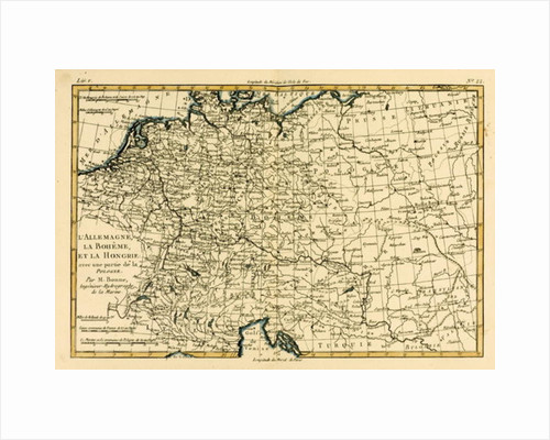 Germany, Bohemia and Hungary, with part of Poland by Charles Marie Rigobert Bonne