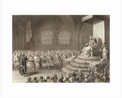 The Fifteenth Council of Toledo during the reign of King Egica in 688AD by Spanish School