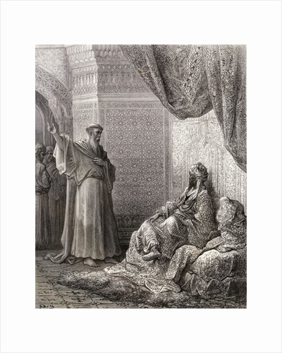 St. Francis of Assisi endeavours to convert the Sultan Malek Kamel by Gustave Dore