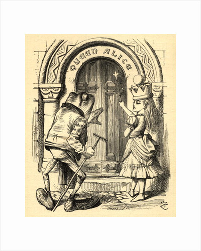Alice and the Frog by John Tenniel