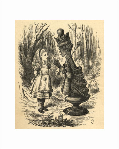 Alice and the Red Queen by John Tenniel