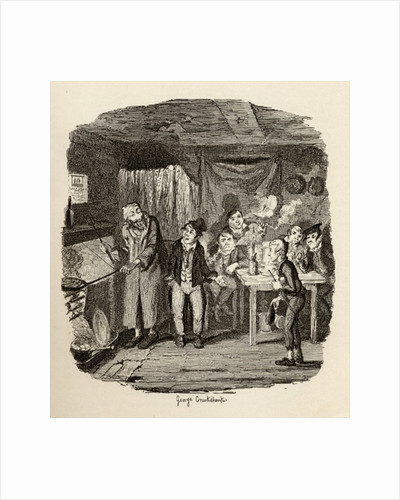 Oliver introduced to the respectable old gentleman by George Cruikshank