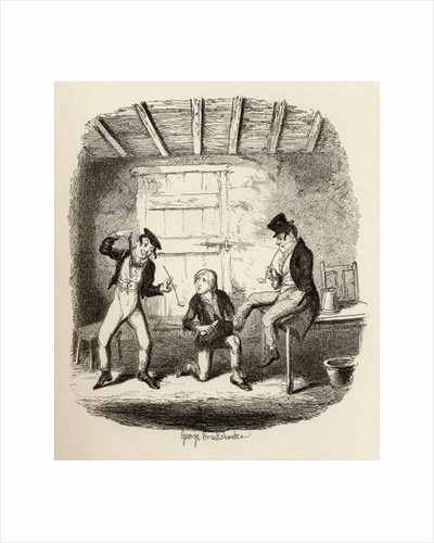 Master Bates explains a professional technicality by George Cruikshank