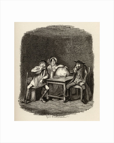 The Jew and Morris Bolter begin to understand each other by George Cruikshank