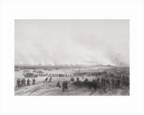 Landing the troops during the bombardment of Fort Fisher, North Carolina by Alonzo Chappel