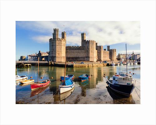 Caernarfon, Wales, UK. The castle by Unknown