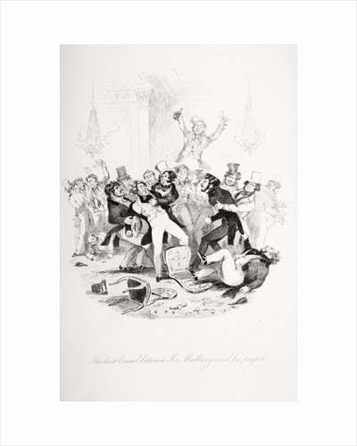 The last brawl between Sir Mulberry and his pupil by Hablot Knight Browne