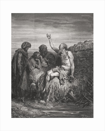Job and his Friends, Job 6:1-4 by Gustave Dore
