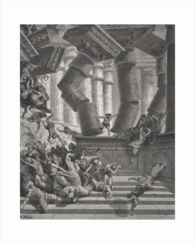 Death of Samson, Judges 26:28-30 by Gustave Dore