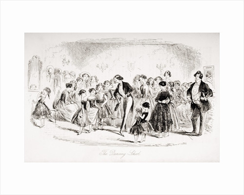 The Dancing School by Hablot Knight Browne