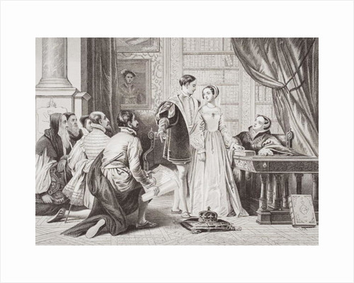 Lady Jane Grey's reluctance to accept the crown by Charles Robert Leslie