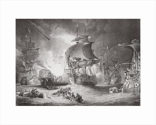 The Battle of the Nile, 1 August 1798 by George Arnald