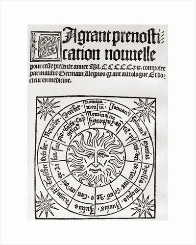 Astrology in the Middle Ages, frontispiece to a 16th century astrological manual by Anonymous