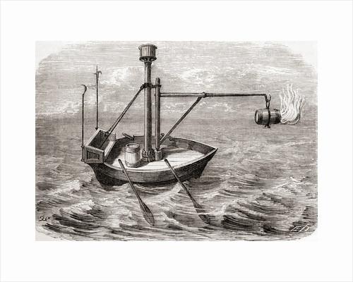 A Greek fire ship by from Les Merveilles de la Science