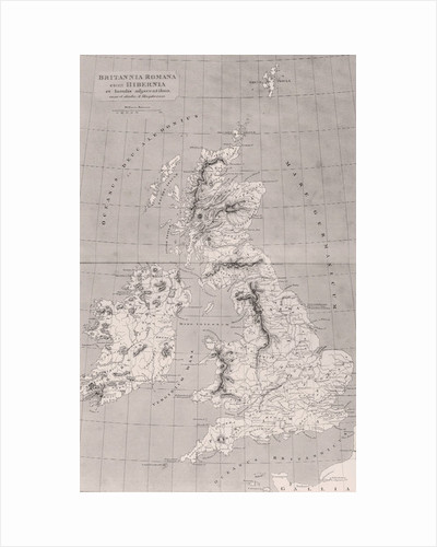Map of Roman Britain with Ireland and adjacent islands, map originally published in London by English School