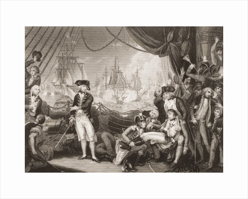 Scene on the Deck of the Queen Charlotte by Mather Brown