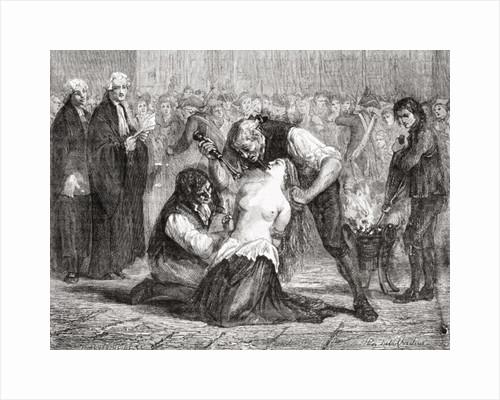 The Torture of Madame de la Motte by H. de la Charlerie
