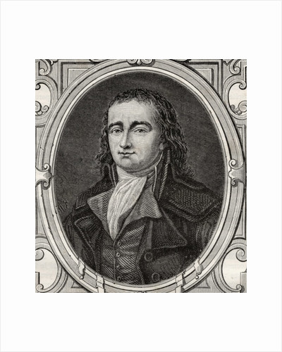 Pierre Gaspard Chaumette from 'Histoire de la Revolution Francaise' by Louis Blanc by French School
