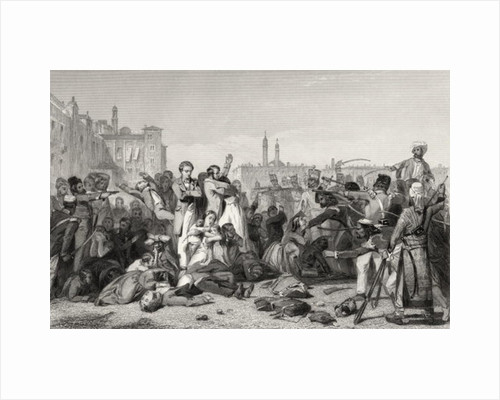 The Massacre at Cawnpore in 1857 by English School