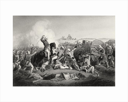 General Havelock's Attack on Nana Sahib at Futtypore in 1857 by English School