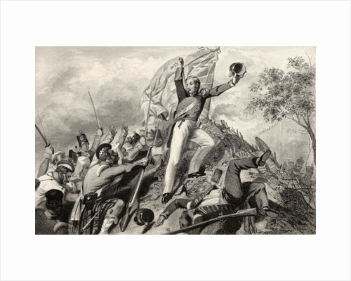 Capture of the guns by the Highlanders before Cawnpore in 1857 by English School