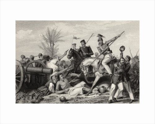 Capture of a gun at Banda by English School