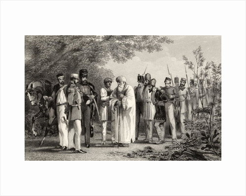 Capture of the King of Delhi by Captain Hodson by English School