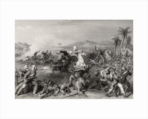 Attack on the Sealcote mutineers by General Nicholsons irregular cavalry in 1857 by English School