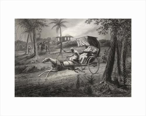 Dr Graham shot in his buggy by the Sealkote Mutineers in 1857 by English School