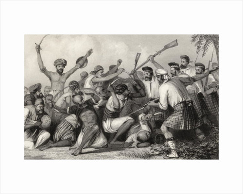 Conflict with the Ghazees before Bareilly on 6th May 1858 by English School