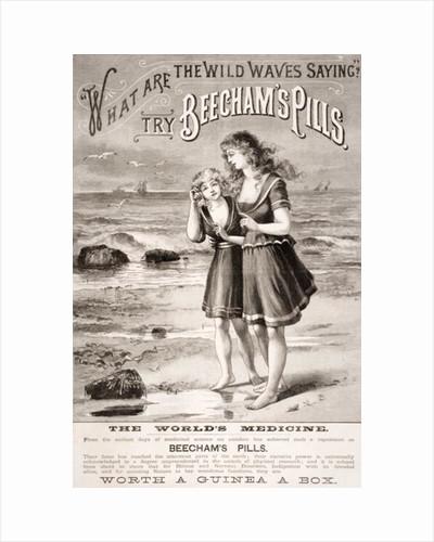 Advertisement for 'Beecham's Pills' by English School