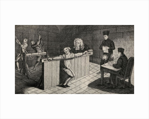 The torture of John Coustos in Lisbon by Unknown