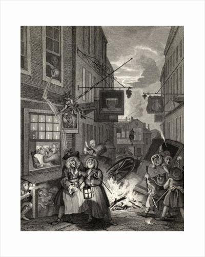Times of the Day: Night by William Hogarth